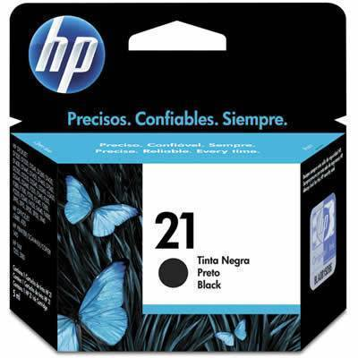 Cartucho HP 21 Black / Preto original 7 ml
