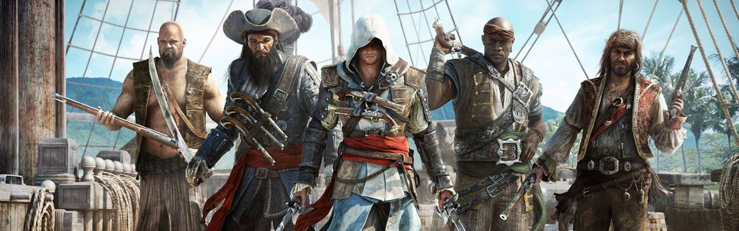 Imagem do Banner do Jogo Assassins Creed Black IV: Black Flag PC
